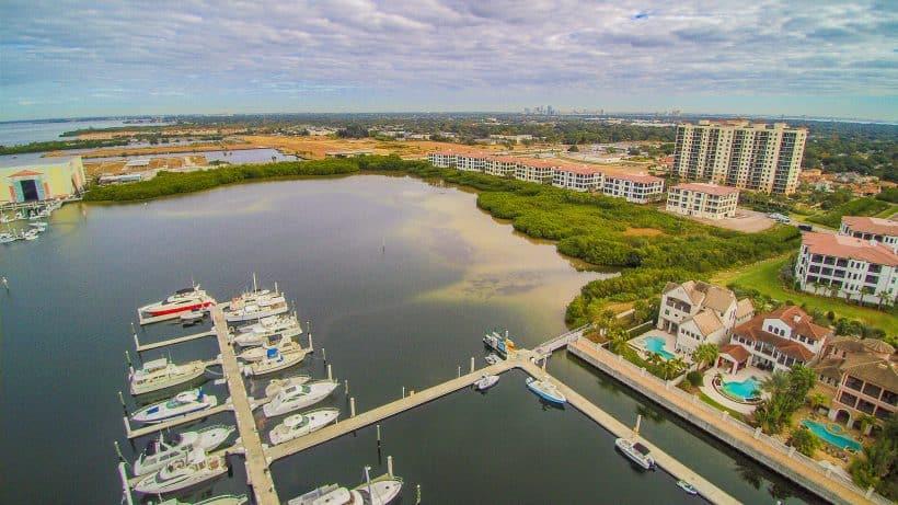 Aerial View Westshore Yacht Club
