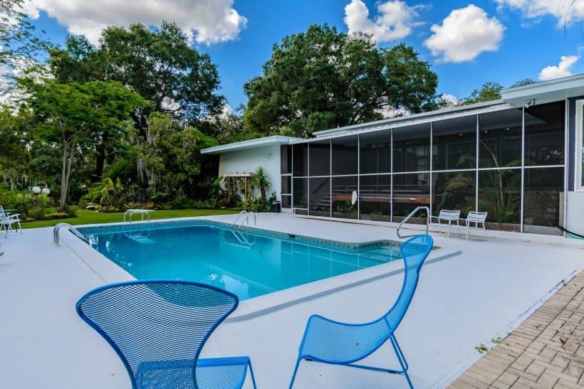 mid century style pool