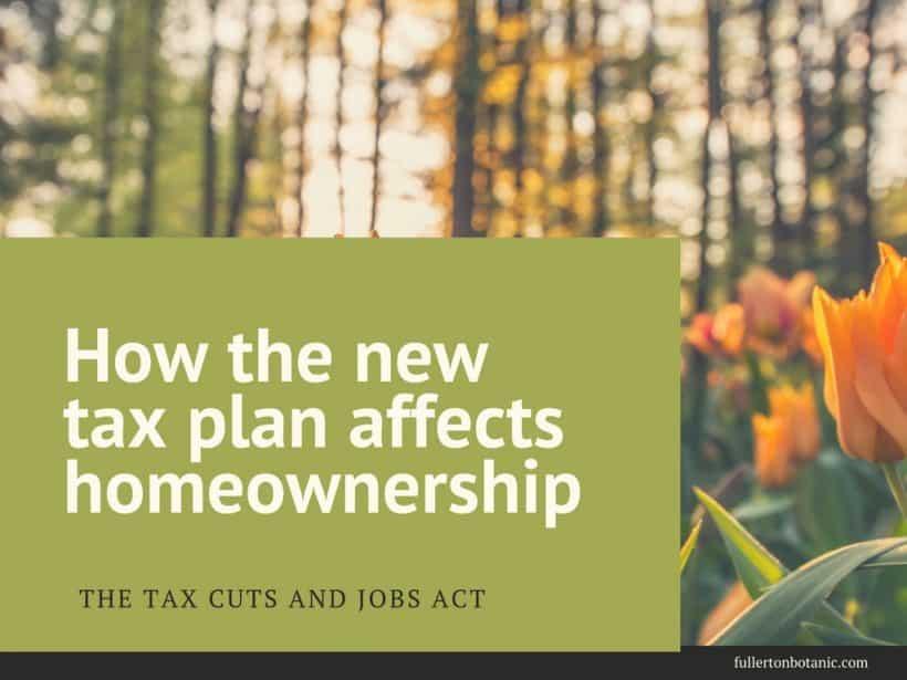 Tax Bill and Homeownership